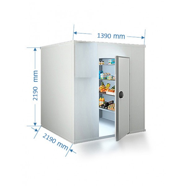 COLD ROOM 1390 X 2190 MM Cubic Capacity 5.1